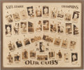 Baseball Collectibles:Photos, 1929 Chicago Cubs Oversized Composite Photographic Display....