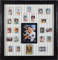 Baseball Cards:Lots, Impressive Mickey Mantle Wall Display Including Every Bowman andTopps Mantle Card!...