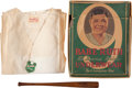 Baseball Collectibles:Others, 1930's Babe Ruth Underwear with Box & Souvenir Mini Bat....