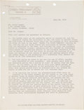"""Autographs:Others, 1974 Leroy """"Satchel"""" Paige Signed Contract for TelevisionBiopic...."""