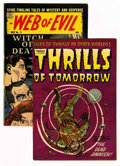Golden Age (1938-1955):Horror, Thrills of Tomorrow #18/Web of Evil #14 Group (Harvey, 1954)Condition: Average VG.... (Total: 2 Comic Books)