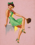 Pin-up and Glamour Art, EARL MORAN (American, 1893-1984). The Maid. Pastel on board.21 x 16.5 in.. Signed center right. ...