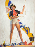 Pin-up and Glamour Art, BRADSHAW CRANDELL (American, 1896-1966). Sailor's Mate.Pastel on board. 39.5 x 29.5 in.. Signed lower left. Fromth...