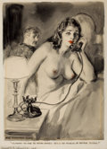 Mainstream Illustration, JAMES MONTGOMERY FLAGG (American, 1877-1960). No, Madam, YouHave the Wrong Number, This is the Museum of NaturalHistory!...