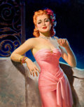 Pin-up and Glamour Art, ART FRAHM (American, 1906-1981). Peg O' My Heart. Oil oncanvas. 29 x 23 in.. Signed lower left. From the Estate of...