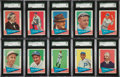 Baseball Cards:Sets, 1961 Fleer Baseball Near Set, Teams & World Series Pennant Decal Complete Sets, Wrappers (Over 200 Items). ...