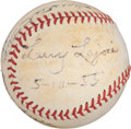 "Autographs:Baseballs, 1955 Napoleon ""Larry"" Lajoie Single Signed Baseball, Greatest Thrill!..."