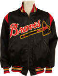 Baseball Collectibles:Uniforms, Early 1950's Milwaukee Braves Game Worn Jacket Attributed to Rookie Hank Aaron....