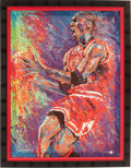 Basketball Collectibles:Others, Circa 2000 Michael Jordan Signed Artist's Proof Giclee....