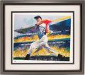 Autographs:Others, 1998 Joe DiMaggio & Leroy Neiman Signed Lithograph....