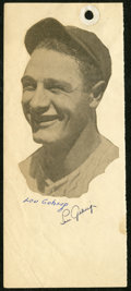 Autographs:Photos, Circa 1927 Lou Gehrig Signed Album Page....
