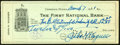 Autographs:Checks, 1921 Honus Wagner Signed Check. ...
