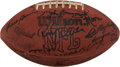 Football Collectibles:Balls, 1981 Pittsburgh Steelers Team Signed Football....