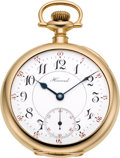 Timepieces:Pocket (post 1900), Howard 14k Gold 23 Jewel Series O, circa 1915. ...