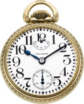 Timepieces:Pocket (post 1900), Waltham 23 Jewel Vanguard With Wind Indicator, circa 1926. ...