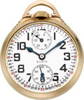 Timepieces:Pocket (post 1900), Elgin 23 Jewel B.W. Raymond Up/Down Indicator, circa 1932. ...