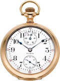 Timepieces:Pocket (post 1900), Elgin 18 Size 23 Jewel Veritas With Up/Down Indicator, circa 1911....
