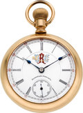Timepieces:Pocket (post 1900), Elgin B.W. Raymond Rare Order of Railway Conductors Dial, circa1903. ...