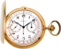 "Timepieces:Pocket (post 1900), Longines 18K Gold ""Chronometro Medical"" With Original Box, circa1905. ..."
