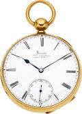 Timepieces:Pocket (pre 1900) , Arnold & Frodsham 18k Gold Free Sprung Lever Fusee, circa 1850. ...