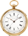 Timepieces:Pocket (pre 1900) , E. Wise, Manchester, 18k Gold Center Seconds Lever Fusee, circa 1860. ...