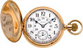 Timepieces:Pocket (post 1900), Elgin 14k Gold 21 Jewel Hunters Case Father Time, circa 1903. ...