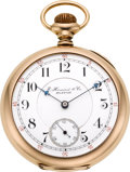 Timepieces:Pocket (post 1900), E. Howard & Co. Boston 14k Gold Series XII 17 Jewel Split Plate, circa 1902. ...