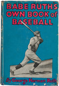 Autographs:Others, 1928 Babe Ruth's Own Book of Baseball, Signed by Ruth....