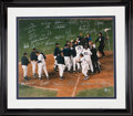 Autographs:Photos, 1999 New York Yankees Team Signed Large Photograph....