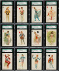 "Non-Sport Cards:Sets, 1880s N457 Type 3 Moore & Calvi ""Playing Cards"" Complete Set(53) - #1 on the SGC Set Registry! ..."