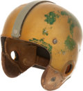 Football Collectibles:Helmets, 1953 Bobby Layne Game Worn Detroit Lions Helmet....