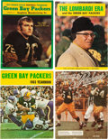 Football Collectibles:Publications, 1960-71 Green Bay Packers Yearbooks and Publications Lot of 4....