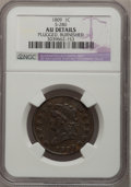 Large Cents, 1809 1C -- Plugged, Burnished -- NGC Details. AU. S-280, B-1,R.2....