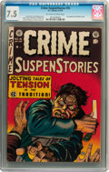 Golden Age (1938-1955):Crime, Crime SuspenStories #16 (EC, 1953) CGC VF- 7.5 Off-white to white pages....