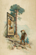 Mainstream Illustration, EDWARD VINCENT BREWER (American, 1883-1971). Rip Van Winkle,Cream of Wheat advertisement, 1915. Oil on canvas. 40 x 28 ...