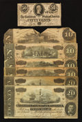 Confederate Notes:1862 Issues, T52; T67; T68, and T72.. ... (Total: 7 notes)