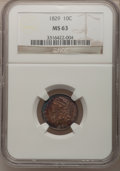 Bust Dimes, 1829 10C Small 10C MS63 NGC. JR-7, R.1....