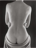 Photographs, RUTH BERNHARD (American, 1905-2006). Draped Torso with Hands, 1962. Gelatin silver, printed later. Paper: 20 x 16 inches...
