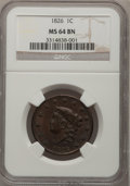 Large Cents, 1826 1C MS64 Brown NGC. N-6, R.2....