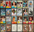 Autographs:Sports Cards, Baseball Greats Signed Baseball Card Lot of 45....