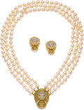 Estate Jewelry:Suites, Cultured Pearl, Diamond, Ruby, Gold Jewelry Suite. ...