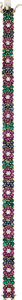 Estate Jewelry:Bracelets, Ruby, Emerald, Sapphire, Diamond, Gold Bracelet. ...