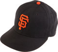 Baseball Collectibles:Hats, Barry Bonds Game Worn Cap....