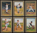 Baseball Collectibles:Others, Baseball Hall of Famers Signed Perez Steele Cards Lot of 6....