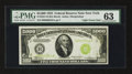 Small Size:Federal Reserve Notes, Fr. 2221-B $5000 1934 Light Green Seal Federal Reserve Note. PMG Choice Uncirculated 63.. ...