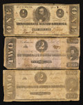 Confederate Notes:1862 Issues, T54; T61; and T62.. ... (Total: 3 notes)