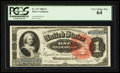 Large Size:Silver Certificates, Fr. 217 $1 1886 Silver Certificate PCGS Very Choice New 64.. ...