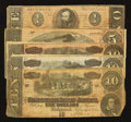 Confederate Notes:1864 Issues, T68 $10 1864 Three Examples. T69 $5 1864. T71 $1 1864.. ... (Total: 5 notes)