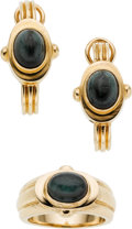 Estate Jewelry:Suites, Green Tourmaline, Gold Jewelry Suite . ...