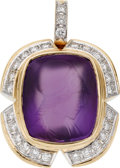 Estate Jewelry:Pendants and Lockets, Carved Amethyst, Diamond, Gold Enhancer. ...